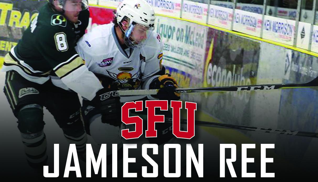 SFU Hockey adds AJHL Champion Defenceman Jamieson Ree for 2018/19
