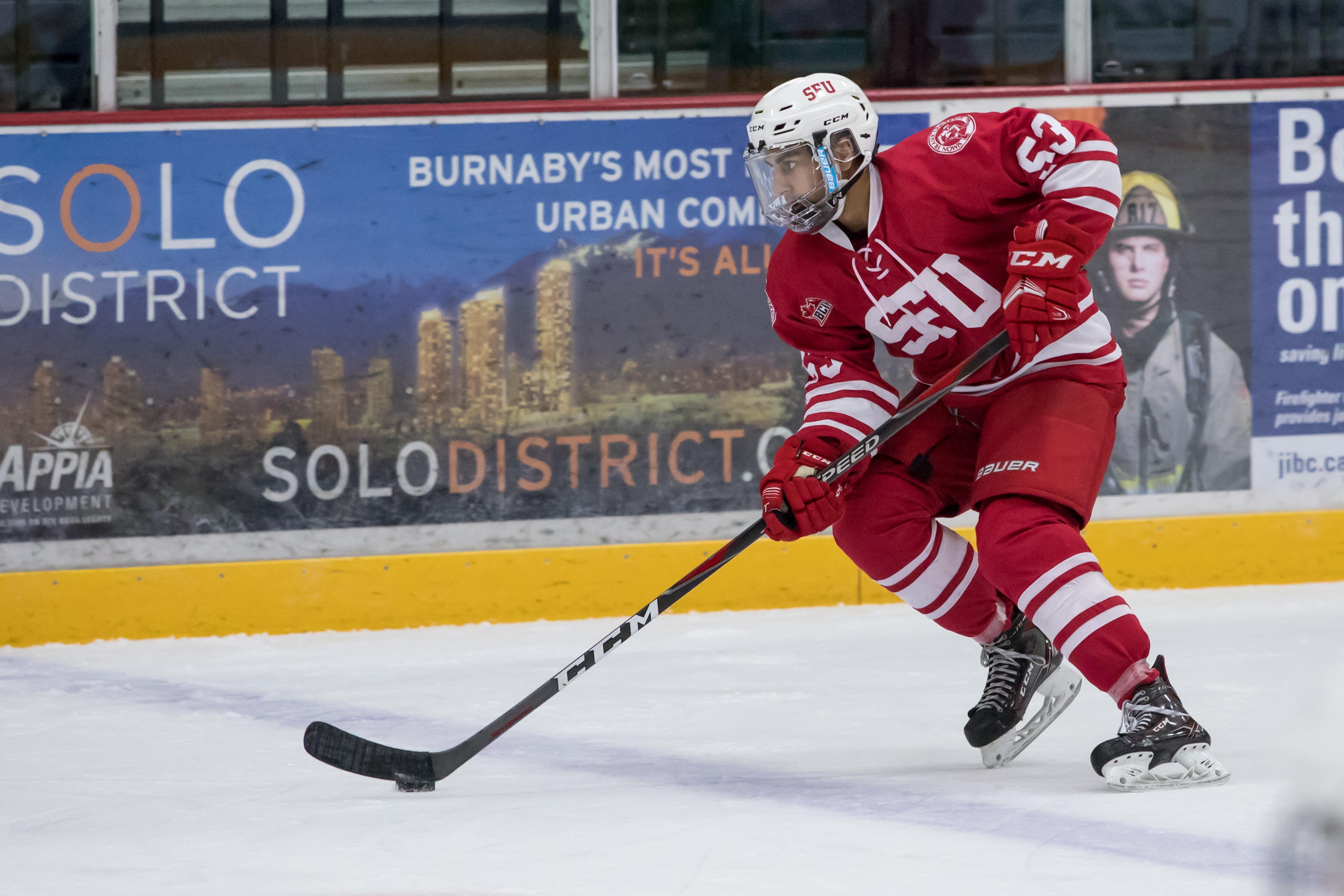 Rapid Fire Questions with Arjan Cheema - SFU Hockey