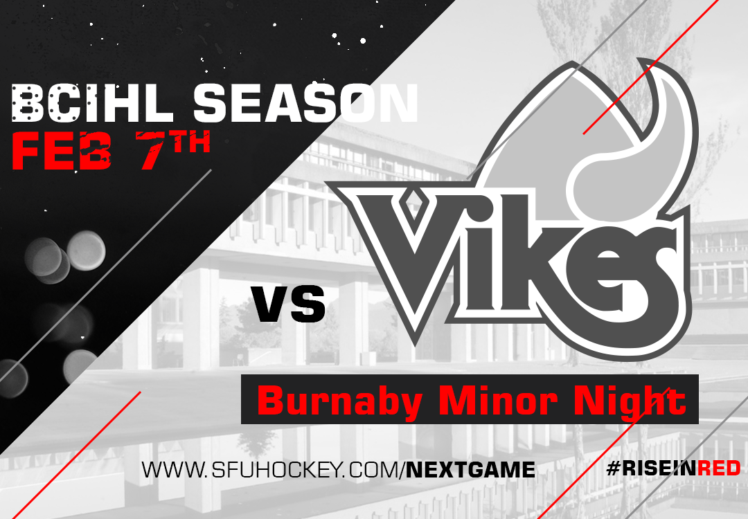 SFU Hosts UVIC on February 7th for Burnaby Minor Night