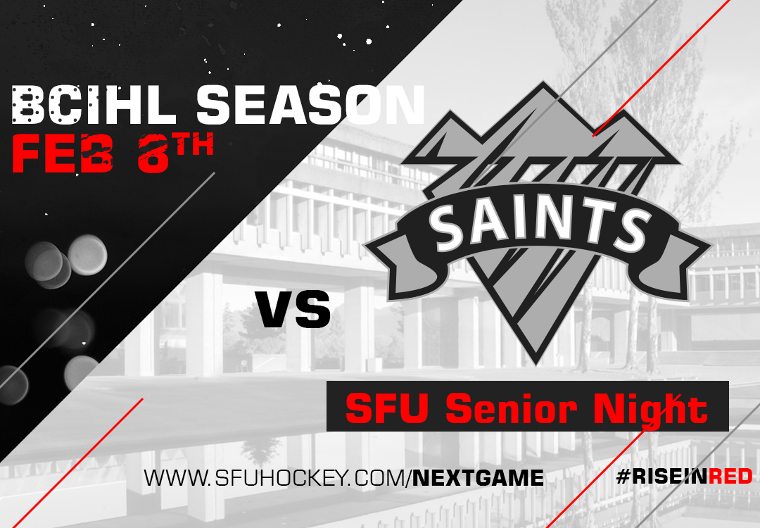 SFU Hosts Selkirk College on February 8th for SFU Senior Night
