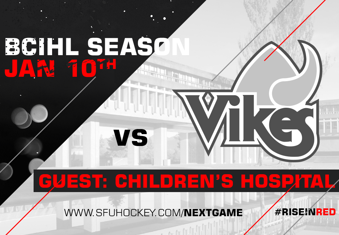 SFU hosts UVIC on January 10th in support of Children's Hospital