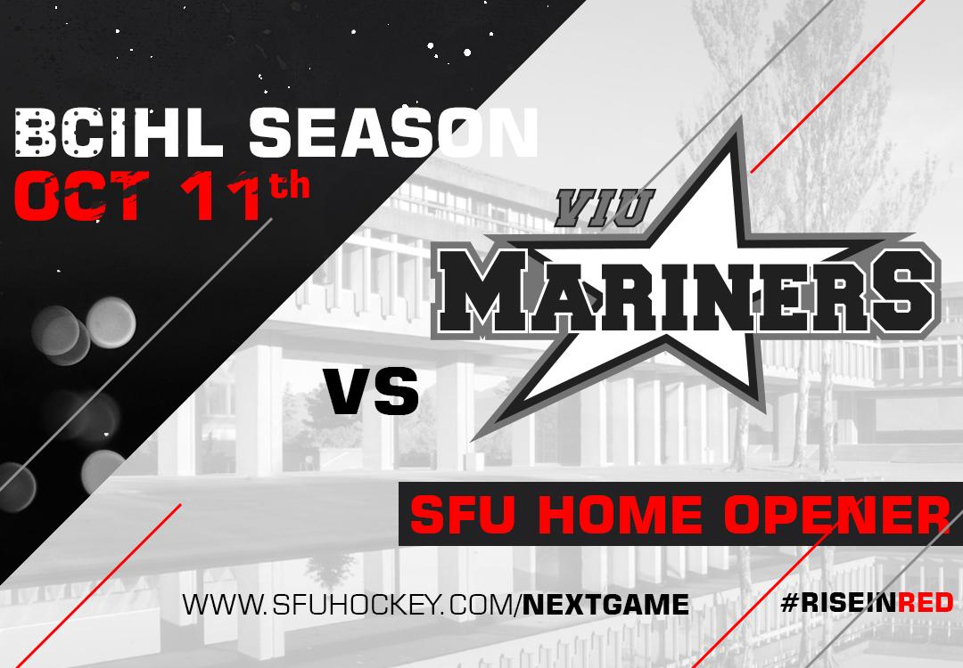 SFU hosts VIU Mariners in home opener on October 11th