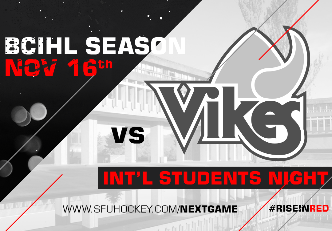 SFU hosts UVIC Vikes on Nov 16th for International Students Night