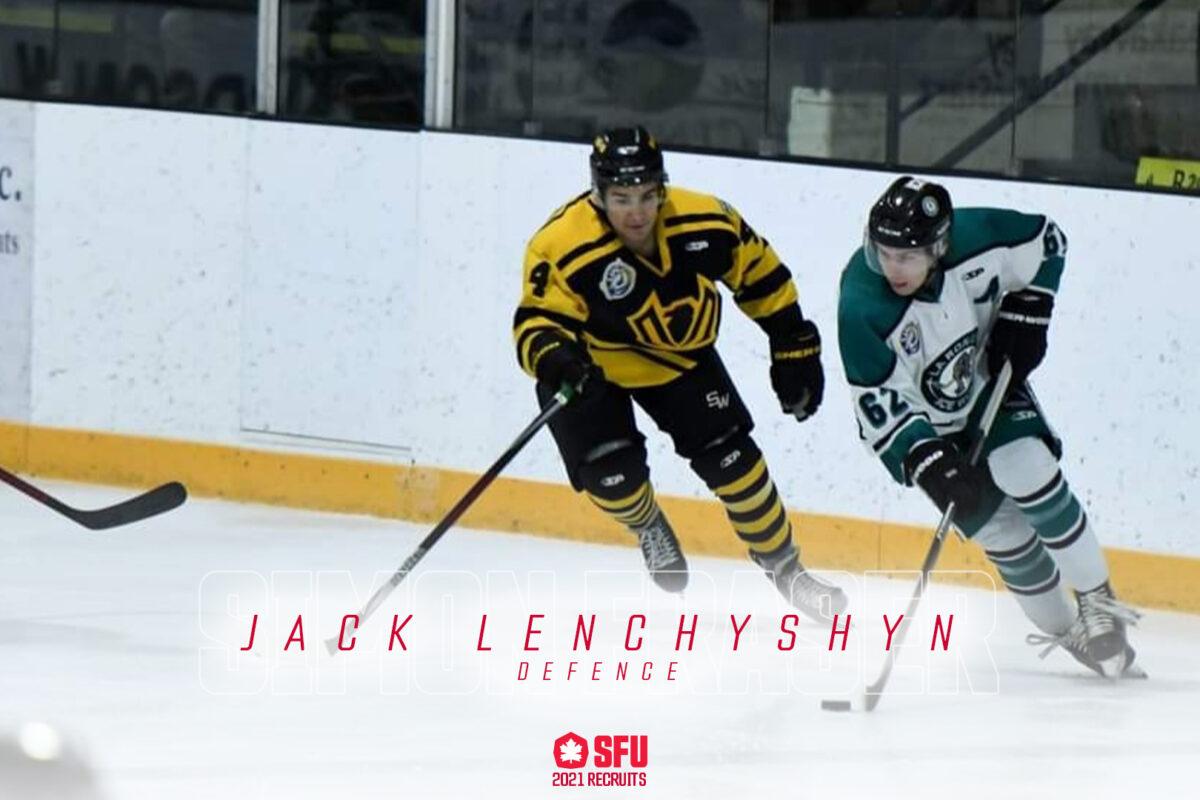 SFU Adds SJHL Defender Jack Lenchyshyn
