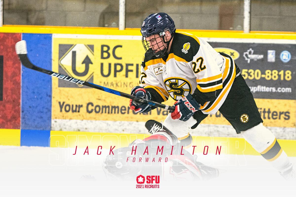 SFU Announces Addition of PJHL Forward Jack Hamilton
